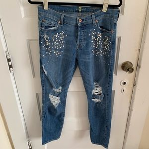 Pearl seven for all mankind jeans